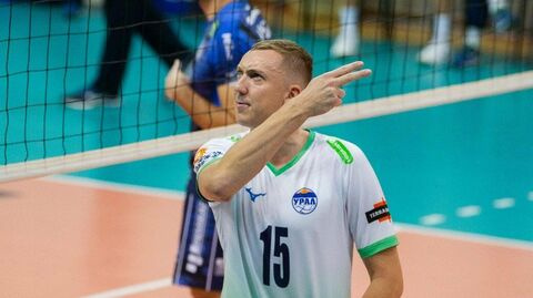 Игрок ВК Урал Алексей Спиридонов