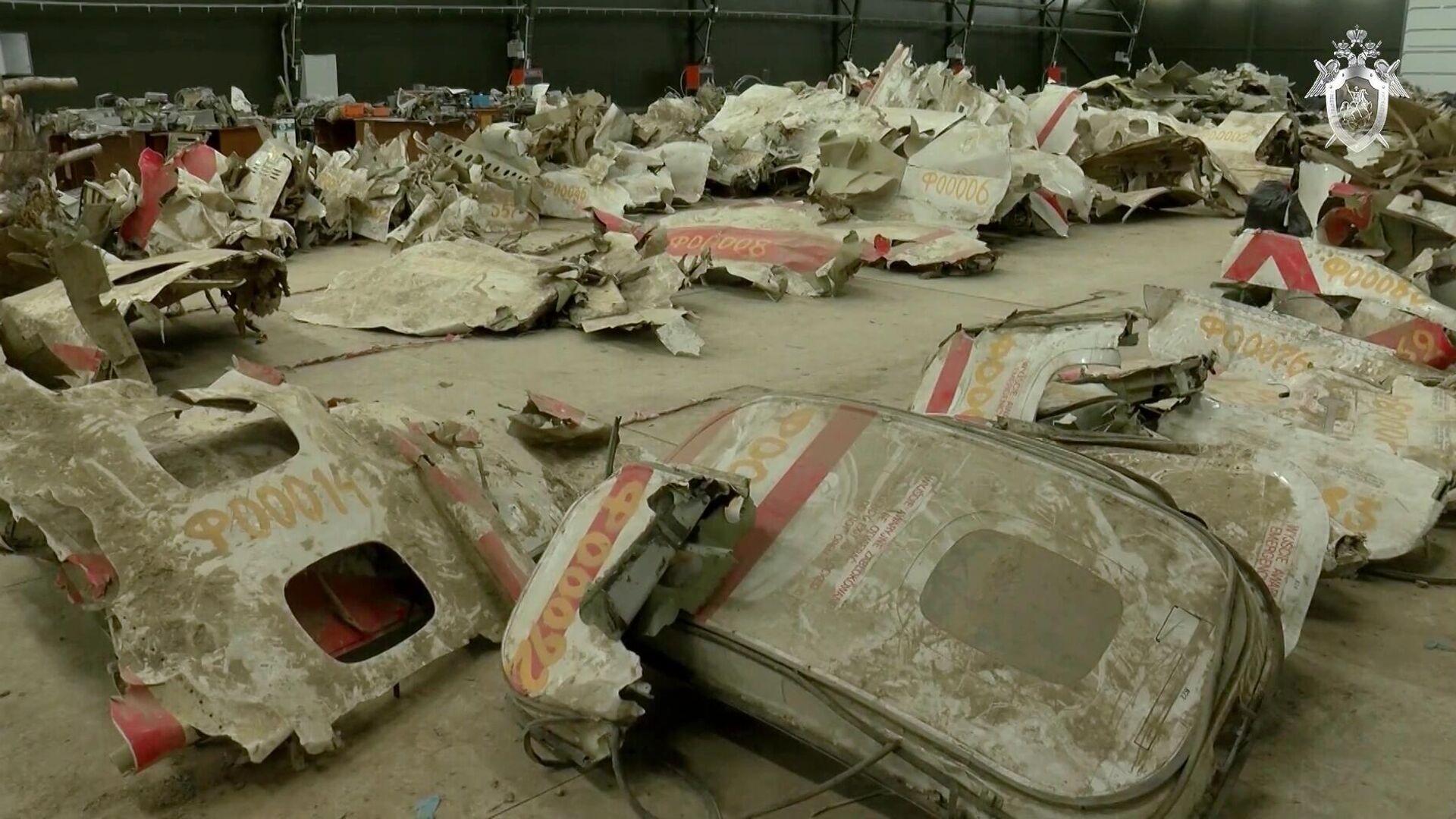 Обломки самолета Ту-154М, изъятые в ходе осмотра места происшествия и признанные вещественными доказательствами по уголовному делу - РИА Новости, 1920, 17.09.2020