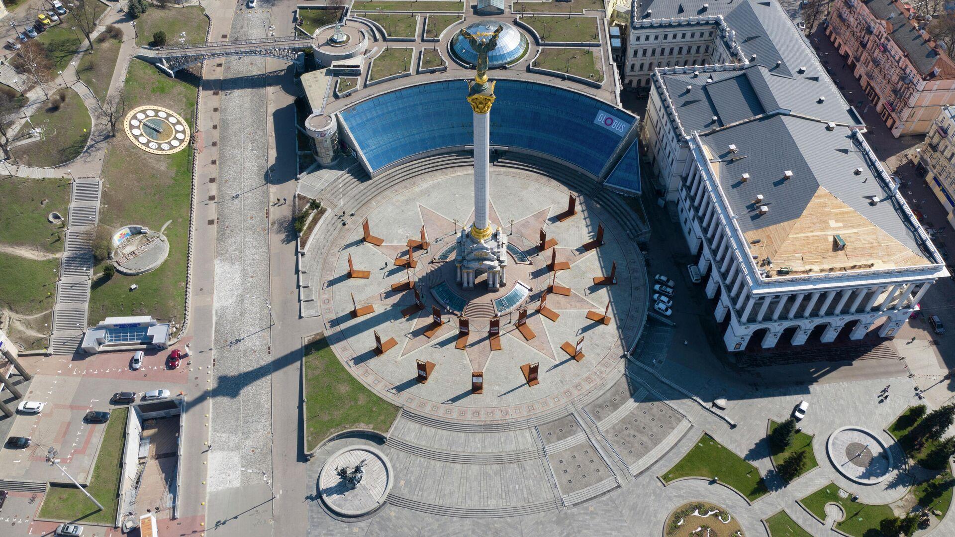 Вид на Площадь Независимости в Киеве, Украина - РИА Новости, 1920, 27.11.2020
