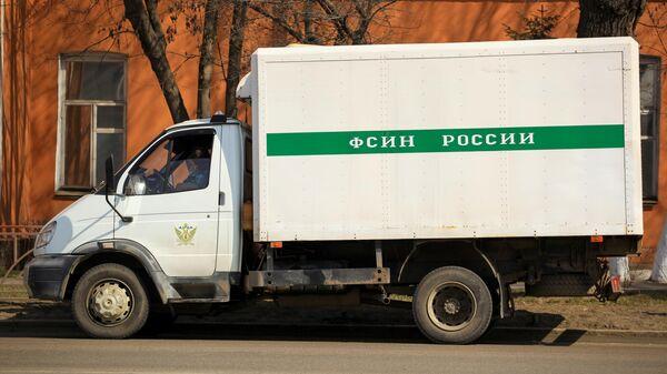 Автомобиль ФСИН возле исправительной колонии