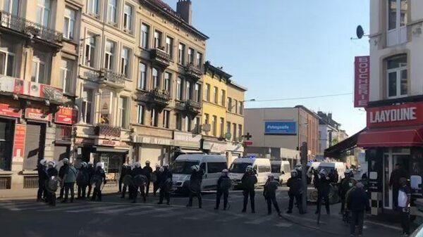 Полиция Брюсселя задержала участников беспорядков