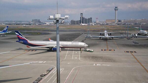 Самолет, вывозящий граждан России из Японии