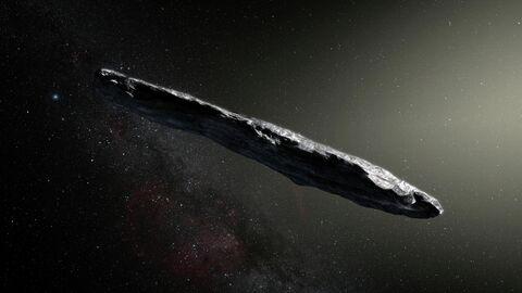 Астероид Оумуамуа в представлении художника
