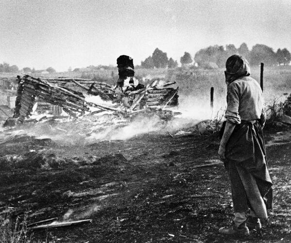 Гитлеровцы сожгли дотла белорусскую деревню
