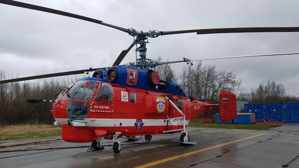 Новый пожарный вертолет Ка-32А11ВС Московского авиационного центра (МАЦ) заступил на первое дежурство