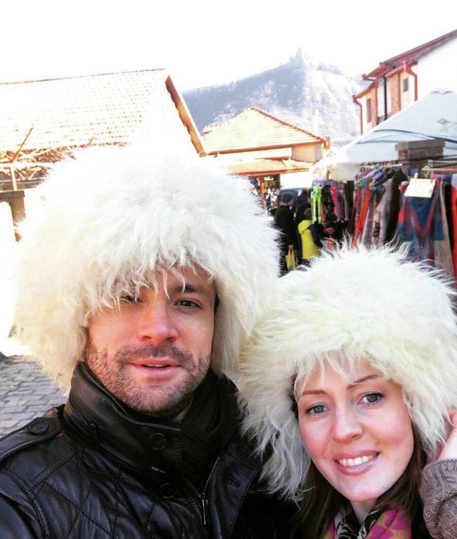 С женой Еленой Хабаровой в Тбилиси