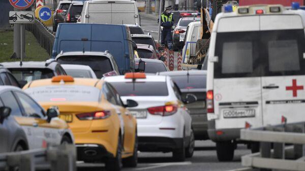 Пробка на въезде в Москву