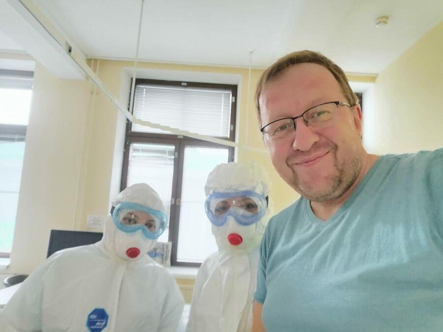 Селфи с врачами перед выпиской