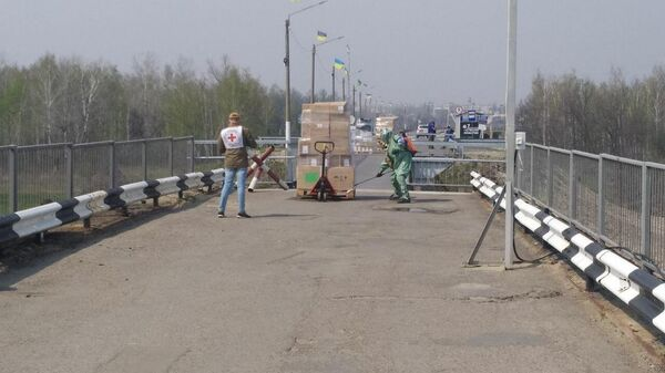Доставка гуманитарного груза от МККК в ЛНР через КПП Станица Луганская
