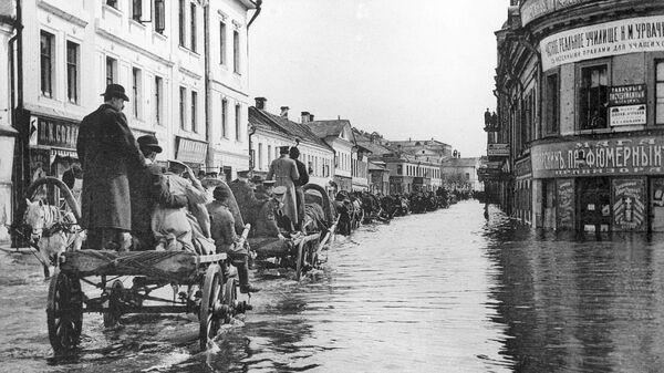 Наводнение в Москве в апреле 1908 года.