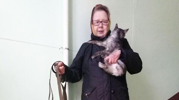 Елена с котом и собакой