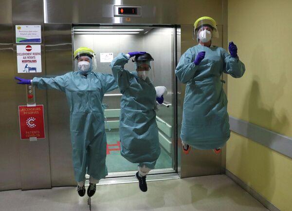 Врачи госпиталя в Льеже, Бельгия