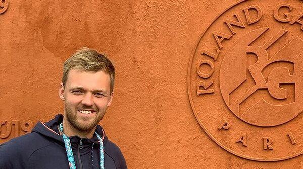 Немецкий теннисист Кевин Кравиц на турнире Ролан Гаррос