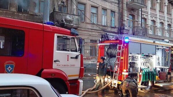 Возгорание в неэксплуатируемом здании в центре Ростова-на-Дону