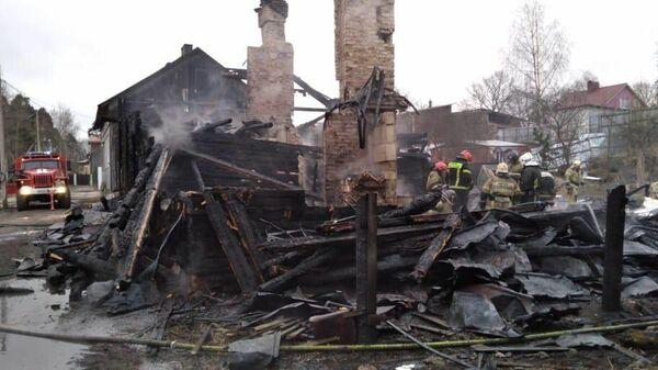 Пожар в Выборге, Ленинградская область