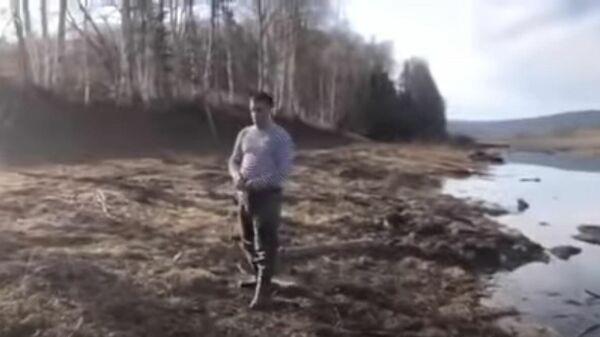 Задержание представителей администрации Усть-Кутского района. Стоп-кадр видео