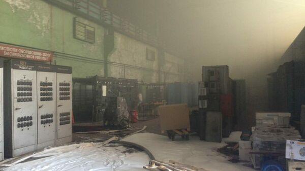 Пожар в цехе на заводе турбинных лопаток в Санкт-Петербурге