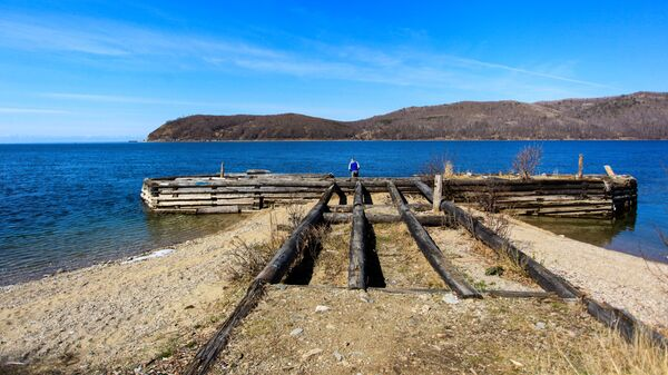 Пристань на озере Байкал