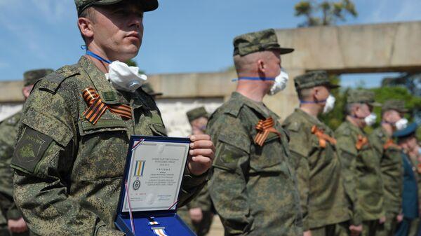 Награждение МО Сербии военных специалистов Минобороны РФ, помогавших в борьбе с COVID-19 в Сербии