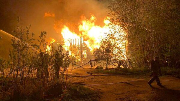 Пожар в ХМАО
