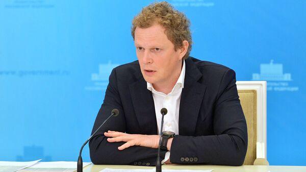 Руководитель Федеральной налоговой службы РФ Даниил Егоров во время брифинга в Доме правительства РФ