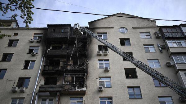 Очевидец рассказал о пожаре в центре Москвы