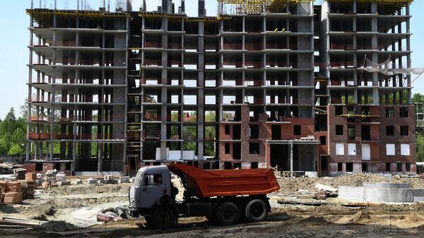Строительство жилого комплекса в Новосибирске