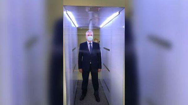 Пензенский губернатор протестировал туннель для дезинфекции