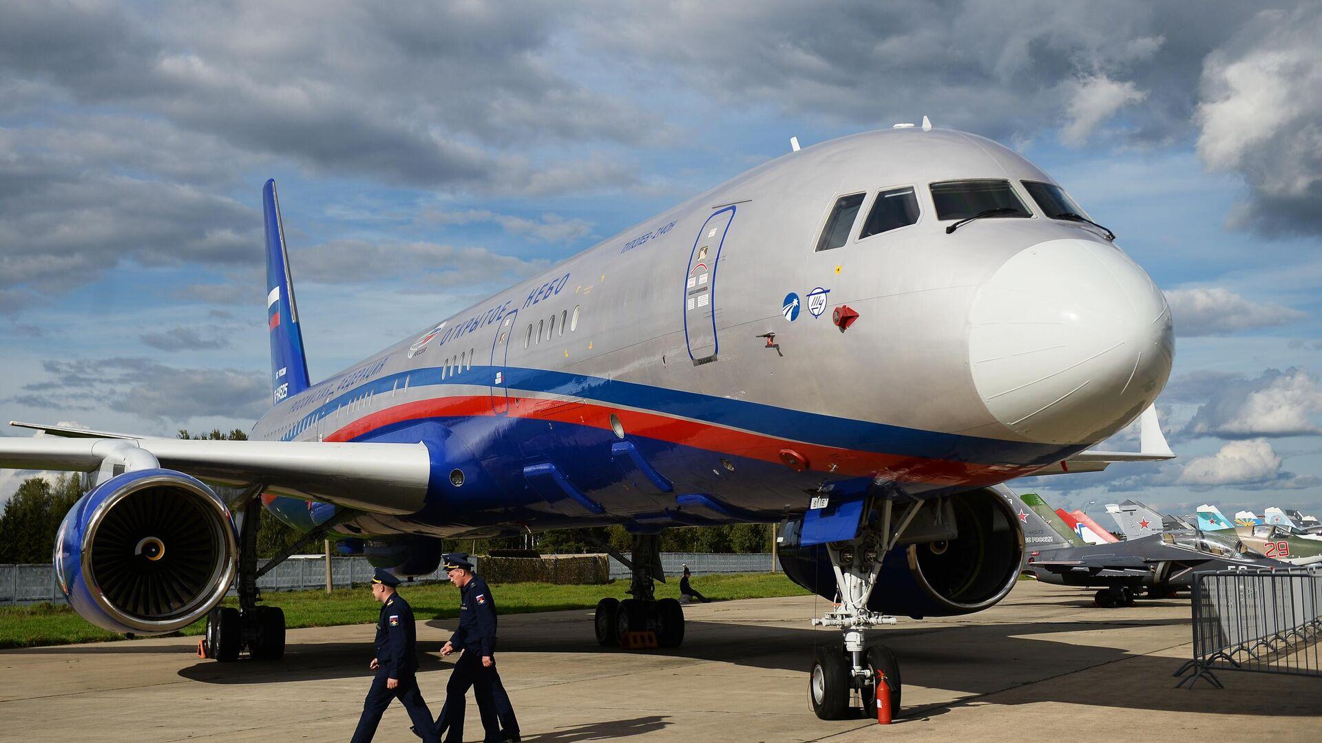 Самолёт авиационного наблюдения Ту-214ОН (Открытое небо) - РИА Новости, 1920, 15.01.2021