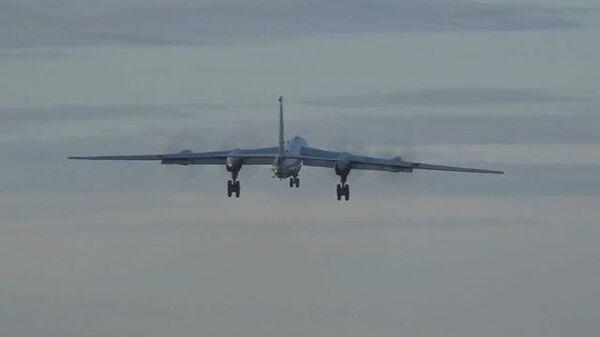 Учебные полеты дальних противолодочных самолетов Ту-142МЗ