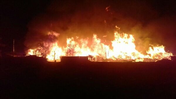 Пожар в городе Свирске Иркутской области