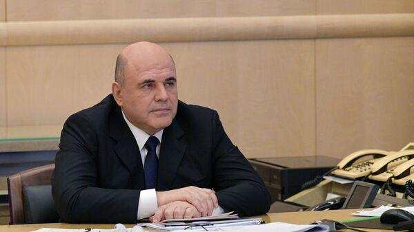 Председатель правительства РФ Михаил Мишустин проводит совещание о мерах по поддержке строительной отрасли и жилищно-коммунального хозяйства в режиме видеоконференции