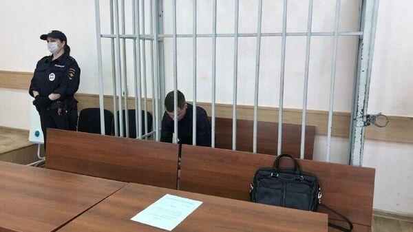 Подозреваемый по делу о стрельбе на юге Москвы Герман Титенок в суде. 26 мая 2020