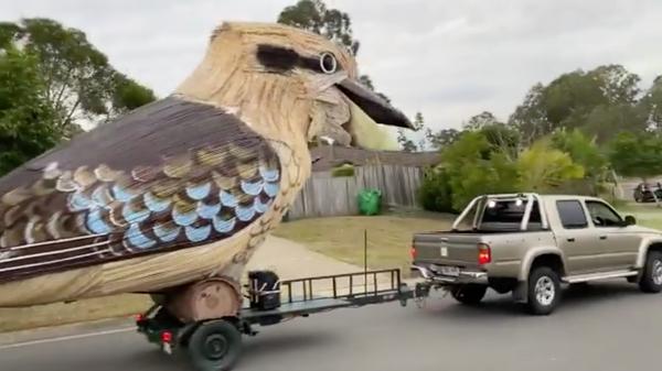 Фигура кукабары сконструированная жителем Австралии