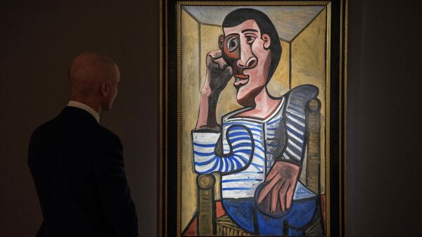 Картина Пабло Пикассо Моряк на аукционе Christie's в Гонконге