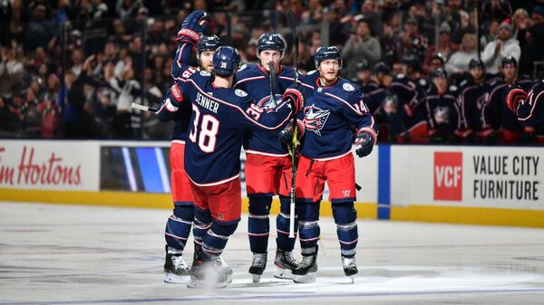 Хоккеисты клуба НХЛ Коламбус Блю Джекетс