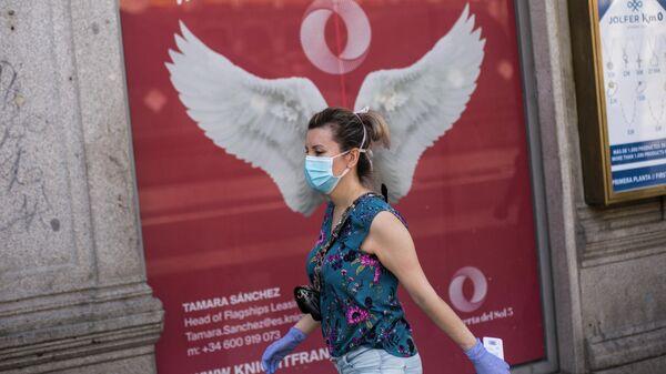 Женщина на одной из улиц Мадрида