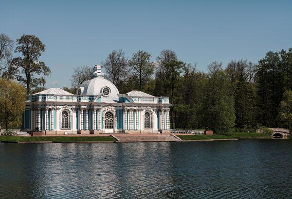 Грот в Екатерининском парке Царскосельской императорской резиденции Царское село