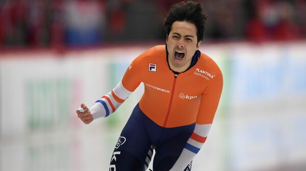 Чемпион мира по конькобежному спорту Кай Фербай