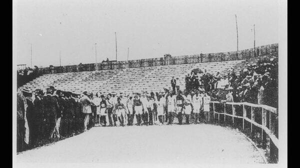 Старт марафона на Олимпийских играх 1904 года в Сент-Луисе