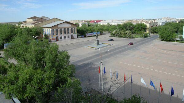 Центральная площадь города Байконура
