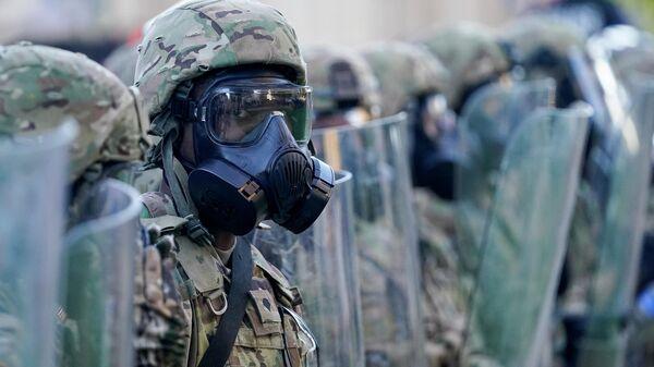 Солдаты Национальной гвардии США в Луисвилле