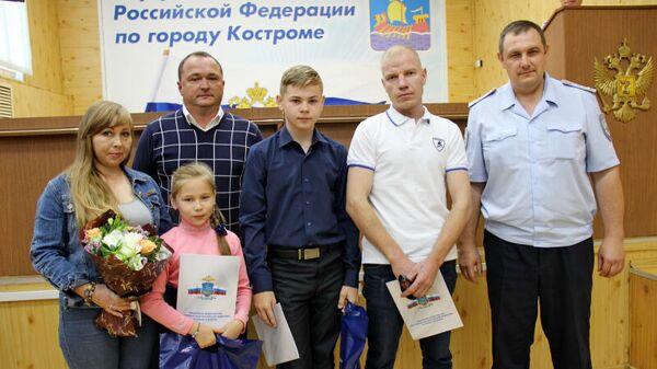 Дети, получившие ведомственные награды МВД России