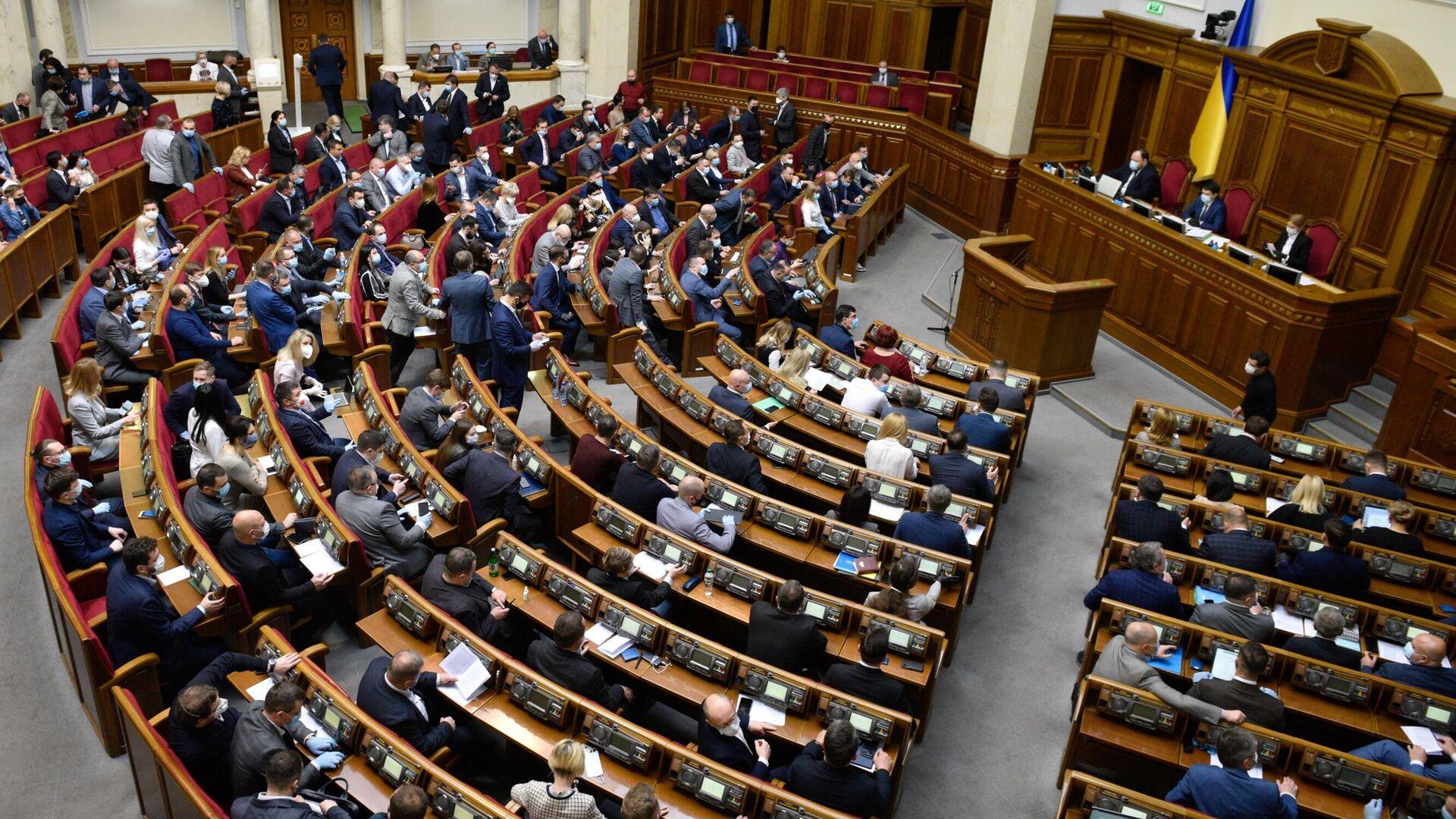 Заседание Верховной рады Украины - РИА Новости, 1920, 21.07.2021