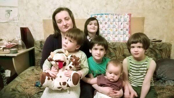 Наталья Чикина с детьми