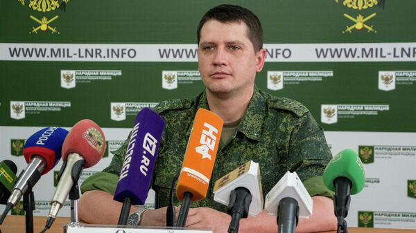 Официальный представитель Народной милиции ЛНР  Яков Осадчий