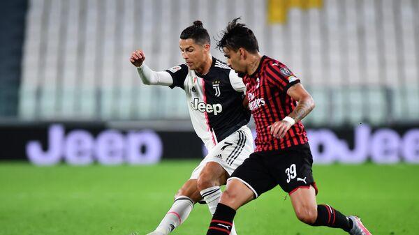 Игровой момент матча Ювентус - Милан