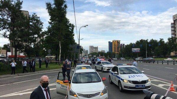 Ситуация на месте стрельбы на Ленинском проспекте