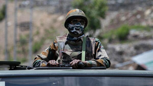 Индийский военнослужащий в Ладакхе