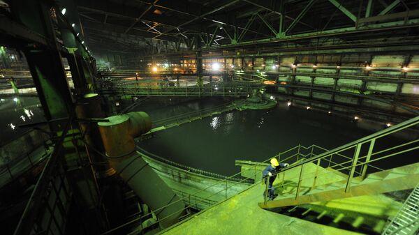 Отделение сгущения измельчительно-флотационного цеха Талнахской обогатительной фабрики ОАО ГМК Норильский никель